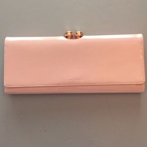 Gorgeous Ted Baker pink patent leather clutch.
